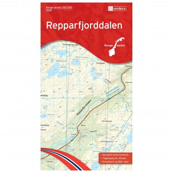 Nordeca - Wander-Outdoorkarte: Repparfjorddalen 1/50 - Hiking map