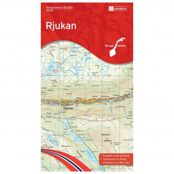 Nordeca - Wander-Outdoorkarte: Rjukan 1/50 - Vandringskartor
