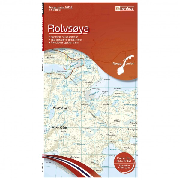 Nordeca - Wander-Outdoorkarte: Rolvsoya 1/50 - Wandelkaarten