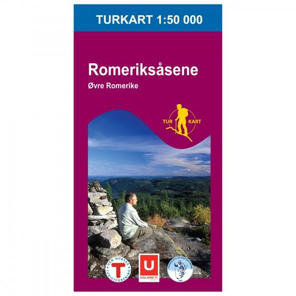 Nordeca - Wander-Outdoorkarte: Romeriksåsene 1/50 - Turkart