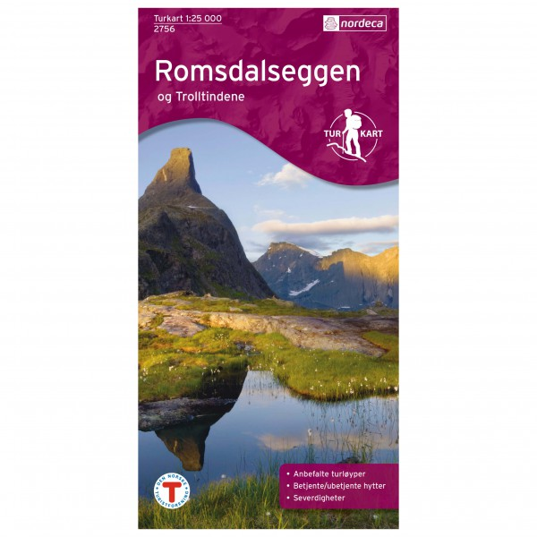 Nordeca - Wander-Outdoorkarte: Romsdalseggen 1/25 - Vaelluskartat