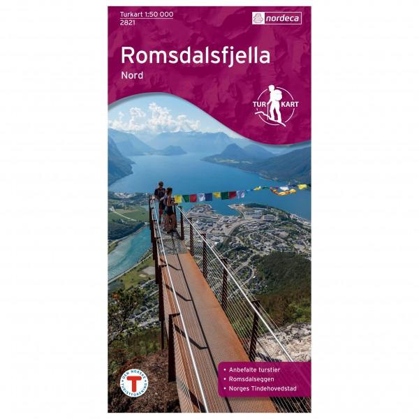 Nordeca - Wander-Outdoorkarte: Romsdalsfjella Nord 1/50 - Vaelluskartat