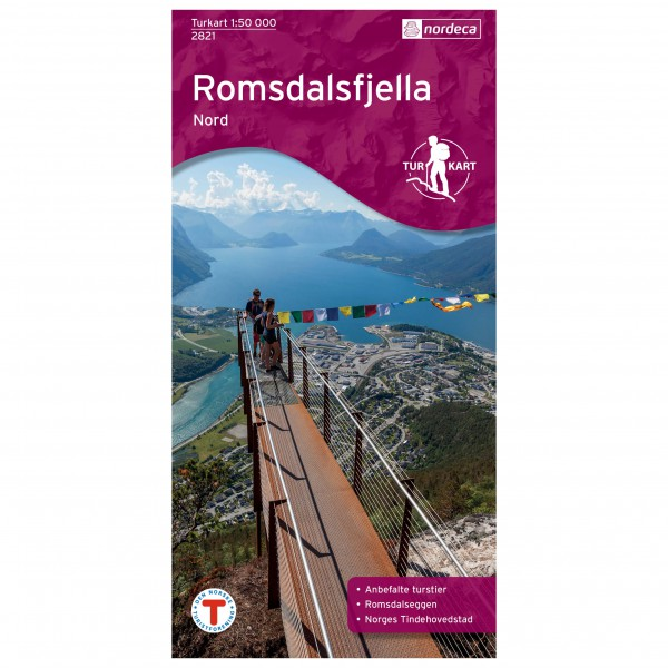 Nordeca - Wander-Outdoorkarte: Romsdalsfjella Nord 1/50 - Wanderkarte