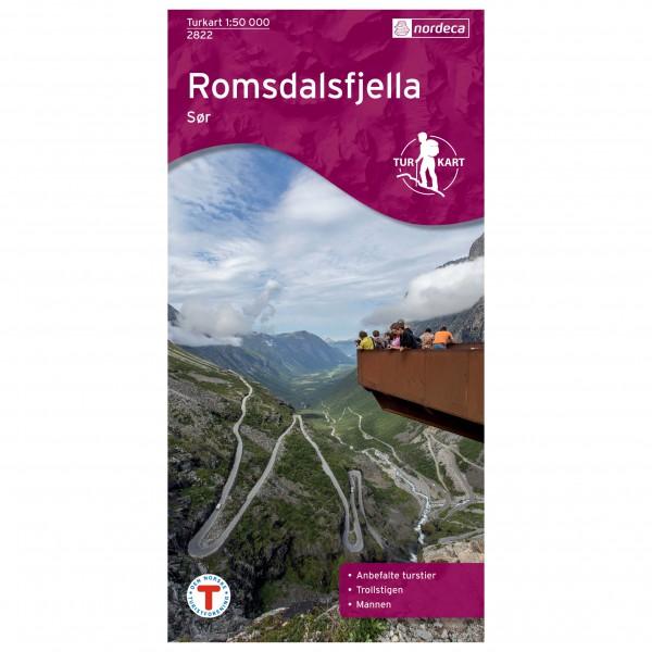 Nordeca - Wander-Outdoorkarte: Romsdalsfjella Sør 1/50 - Hiking map