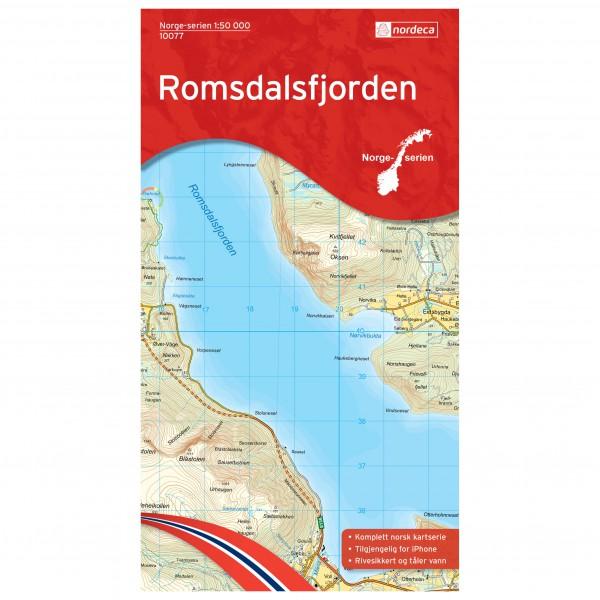 Nordeca - Wander-Outdoorkarte: Romsdalsfjorden 1/50 - Wandelkaart