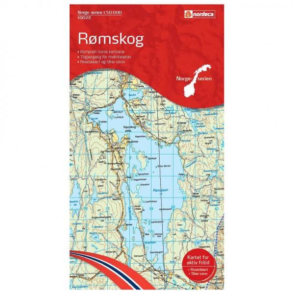 Nordeca - Wander-Outdoorkarte: Rømskog 1/50 - Wandelkaart