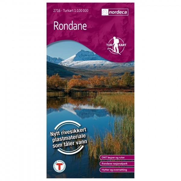 Nordeca - Wander-Outdoorkarte: Rondane 1/100 - Wandelkaarten