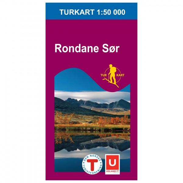 Nordeca - Wander-Outdoorkarte: Rondane Sør 1/50 - Vandrekort