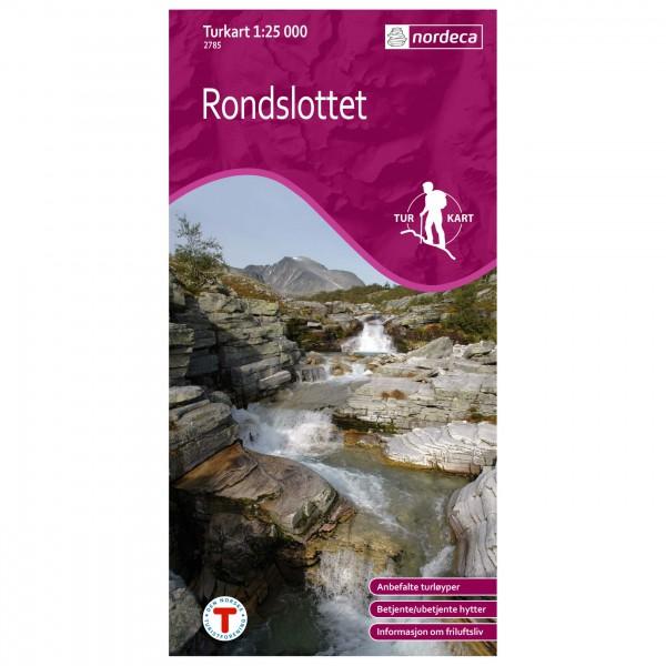 Nordeca - Wander-Outdoorkarte: Rondslottet 1/25 - Carte de randonnée