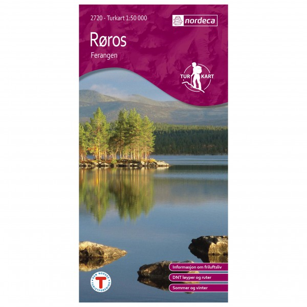 Nordeca - Wander-Outdoorkarte: Røros Ferangen 1/50 - Vandrekort