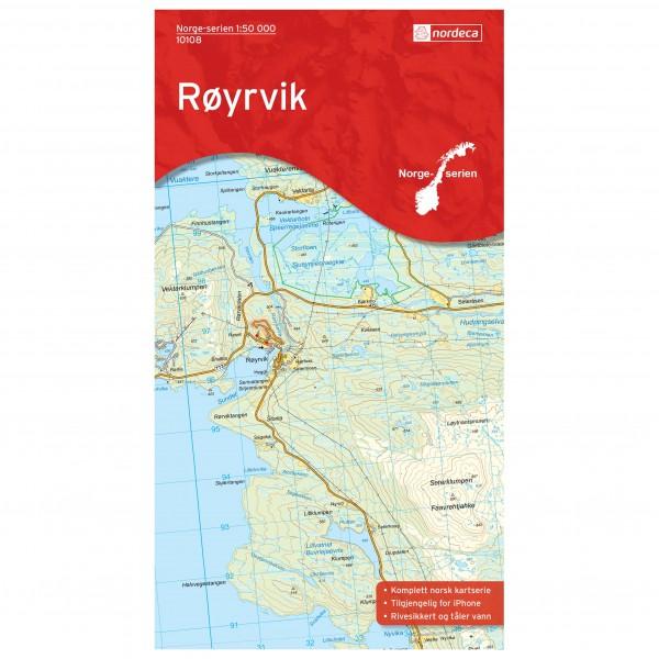 Nordeca - Wander-Outdoorkarte: Røyrvik 1/50 - Vandrekort