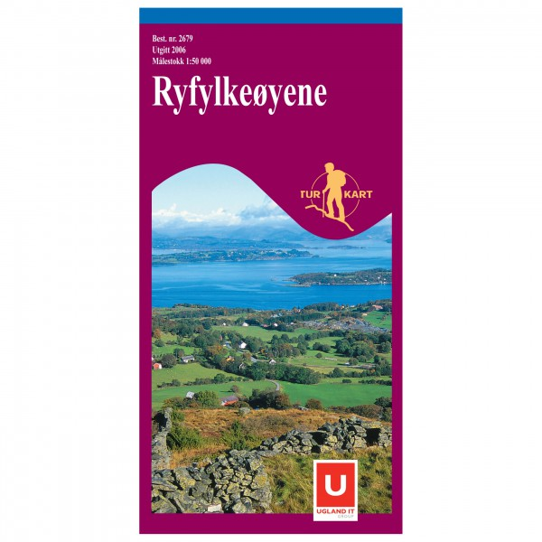 Nordeca - Wander-Outdoorkarte: Ryfylkeøyene 1/50 - Hiking map