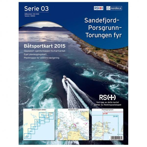 Nordeca - Bootsportkarte: Sandefjord-Porsgrunn-Torungen Fyr - Vaelluskartat
