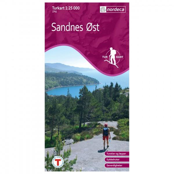Nordeca - Wander-Outdoorkarte: Sandnes Øst 1/25 - Vaelluskartat