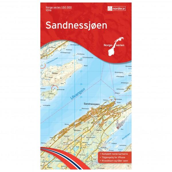 Nordeca - Wander-Outdoorkarte: Sandnessjoen 1/50 - Wandelkaarten