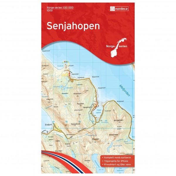 Nordeca - Wander-Outdoorkarte: Senjahopen 1/50 - Mapa de senderos