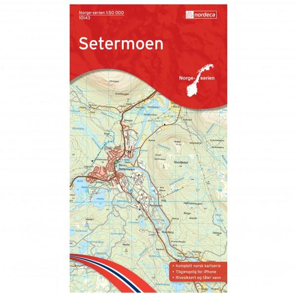 Nordeca - Wander-Outdoorkarte: Setermoen 1/50 - Mapa de senderos