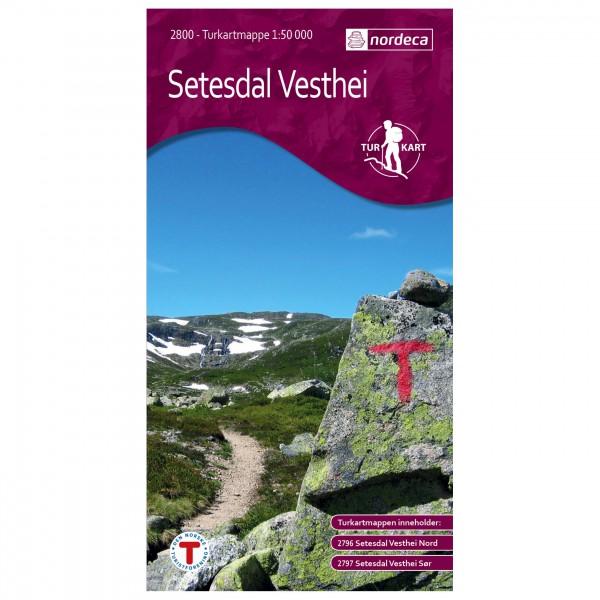 Nordeca - Wander-Outdoorkarte: Setesdal Vesthei 1/50 - Mapa de senderos