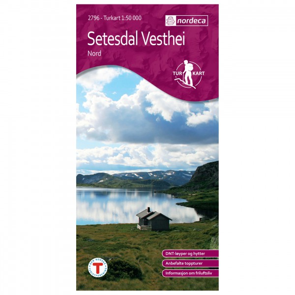 Nordeca - Wander-Outdoorkarte: Setesdal Vesthei Nord 1/50 - Vandringskartor