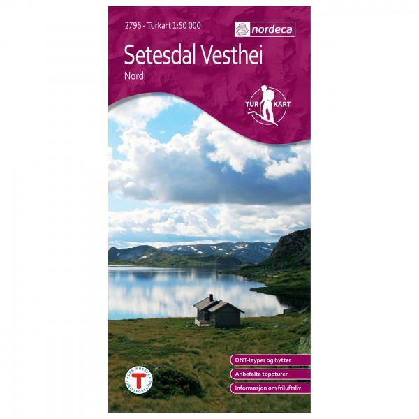 Nordeca - Wander-Outdoorkarte: Setesdal Vesthei Nord 1/50 - Wandelkaarten