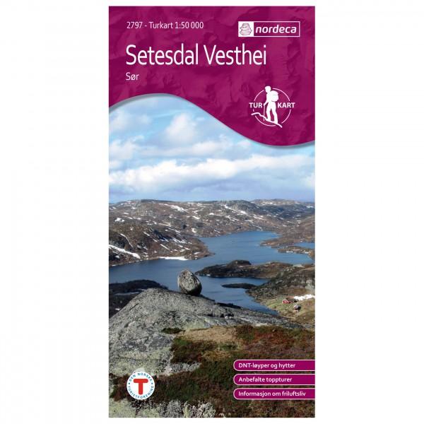 Nordeca - Wander-Outdoorkarte: Setesdal Vesthei Sør 1/50 - Vandrekort