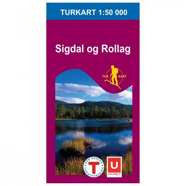 Nordeca - Wander-Outdoorkarte: Sigdal-Rollag 1/50 - Vandrekort