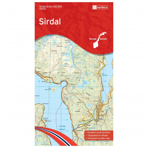 Nordeca - Wander-Outdoorkarte: Sirdal 1/50 - Vandringskartor