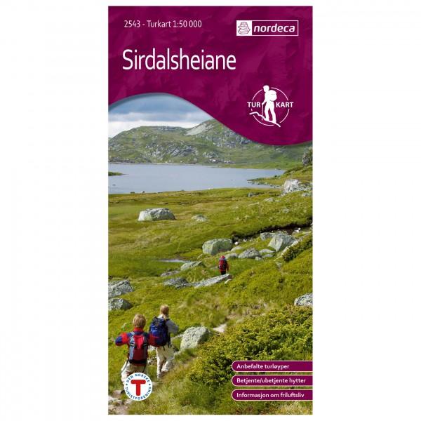 Nordeca - Wander-Outdoorkarte: Sirdalsheiane 1/50 - Hiking map