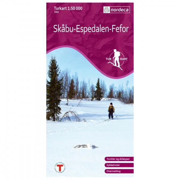 Nordeca - Wander-Outdoorkarte: Skåbu-Espedalen-Fefor 1/50 - Hiking map