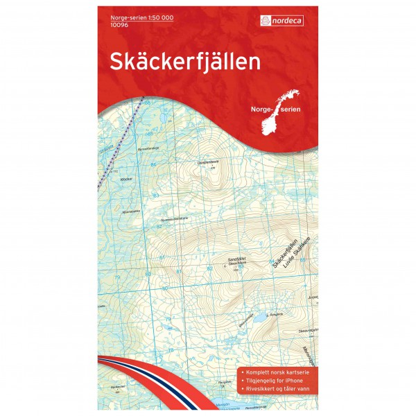 Nordeca - Wander-Outdoorkarte: Skäckerfjällen 1/50