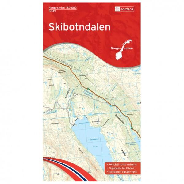 Nordeca - Wander-Outdoorkarte: Skibotndalen 1/50 - Mapa de senderos