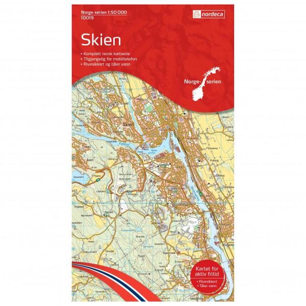 Nordeca - Wander-Outdoorkarte: Skien 1/50 - Vaelluskartat