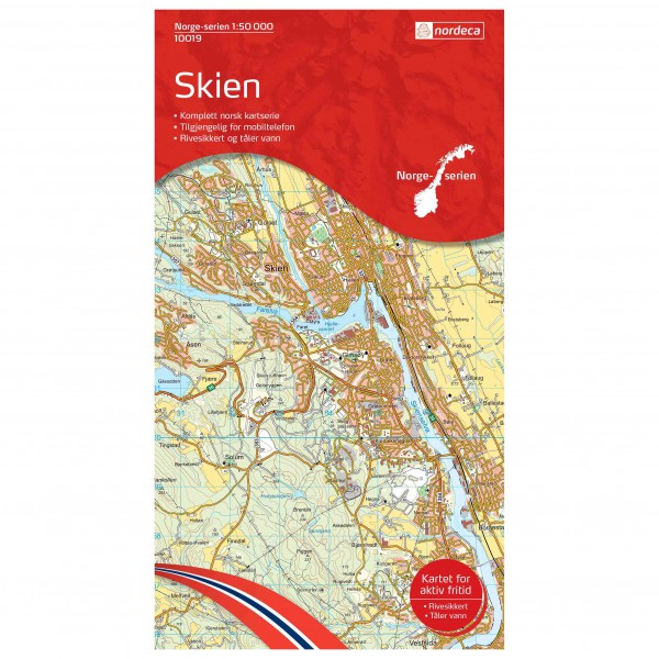 Nordeca - Wander-Outdoorkarte: Skien 1/50 - Wandelkaart
