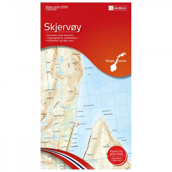 Nordeca - Wander-Outdoorkarte: Skjervoy 1/50 - Wanderkarte