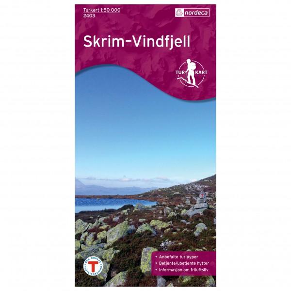 Nordeca - Wander-Outdoorkarte: Skrim Vindfjell 1/50 - Vandrekort