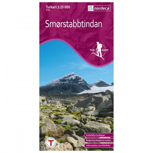 Nordeca - Wander-Outdoorkarte: Smørstabbtindane 1/25 - Wandelkaart