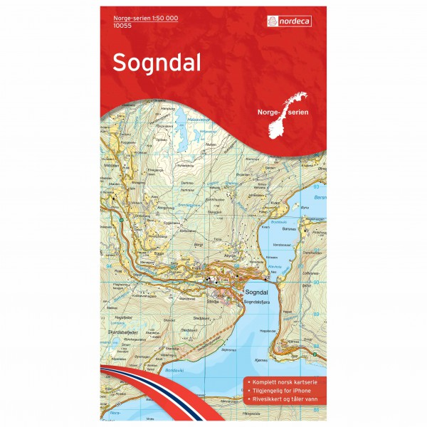 Nordeca - Wander-Outdoorkarte: Sogndal 1/50 - Hiking map