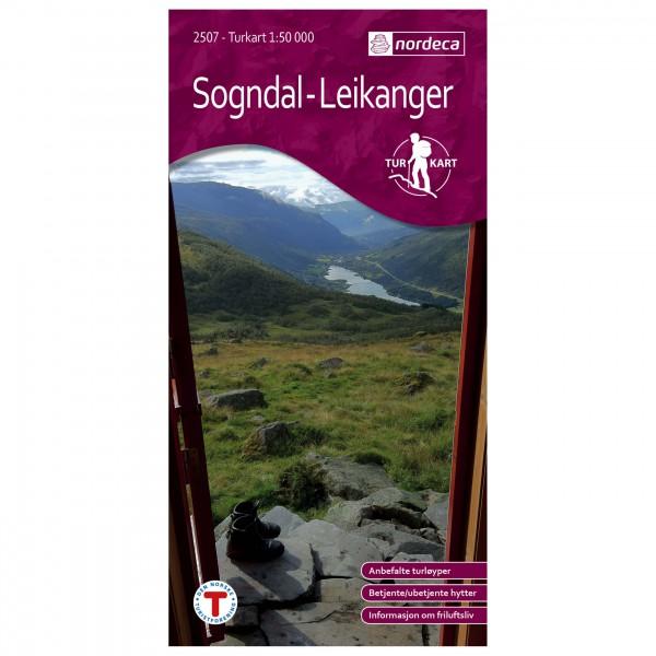 Nordeca - Wander-Outdoorkarte: Sogndal-Leikanger 1/50 - Vaelluskartat