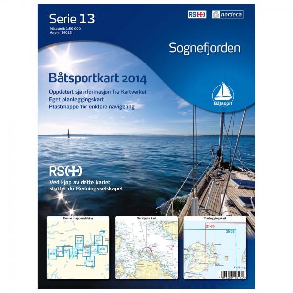 Nordeca - Bootsportkarte: Sognefjorden 1/50 - Wanderkarte
