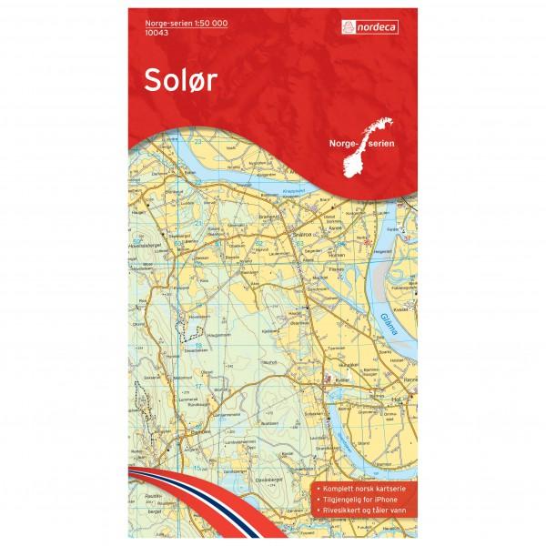Nordeca - Wander-Outdoorkarte: Solør 1/50 - Wandelkaarten