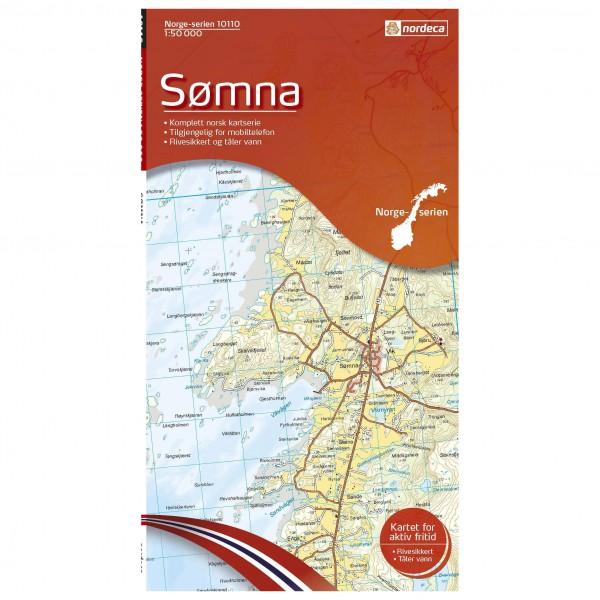 Nordeca - Wander-Outdoorkarte: Somna 1/50 - Wandelkaarten