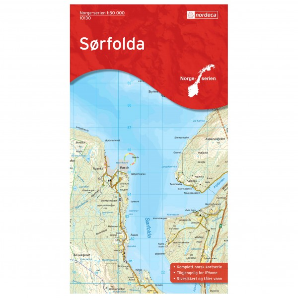 Nordeca - Wander-Outdoorkarte: Sørfolda 1/50 - Hiking map