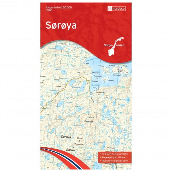 Nordeca - Wander-Outdoorkarte: Soroya 1/50 - Wanderkarte