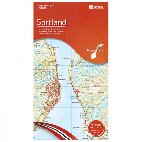 Nordeca - Wander-Outdoorkarte: Sortland 1/50 - Vaelluskartat