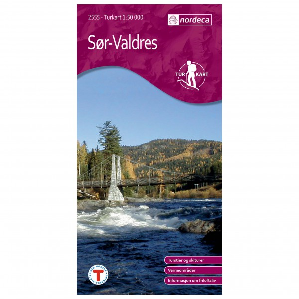 Nordeca - Wander-Outdoorkarte: Sør-Valdres 1/50 - Vaelluskartat