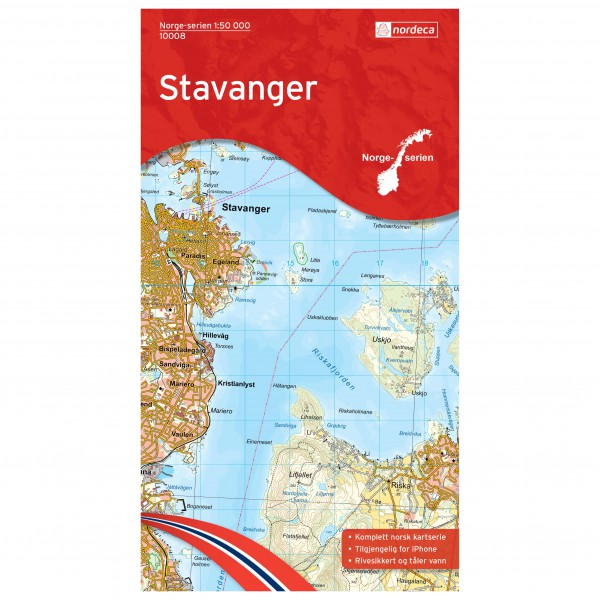 Nordeca - Wander-Outdoorkarte: Stavanger 1/50 - Wandelkaarten
