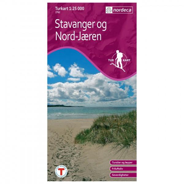 Nordeca - Wander-Outdoorkarte: Stavanger Og Nord Jæren 1/25 - Wandelkaart