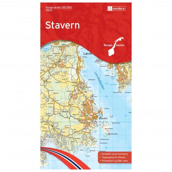 Nordeca - Wander-Outdoorkarte: Stavern 1/50 - Vandringskartor