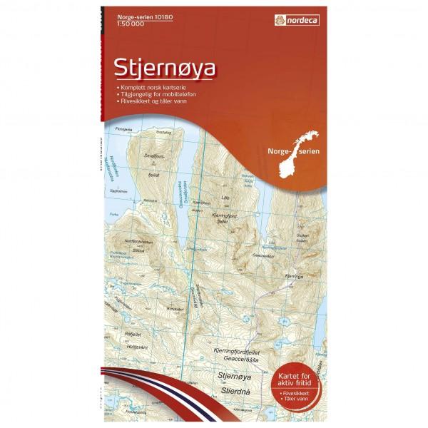 Nordeca - Wander-Outdoorkarte: Stjernoya 1/50 - Hiking map