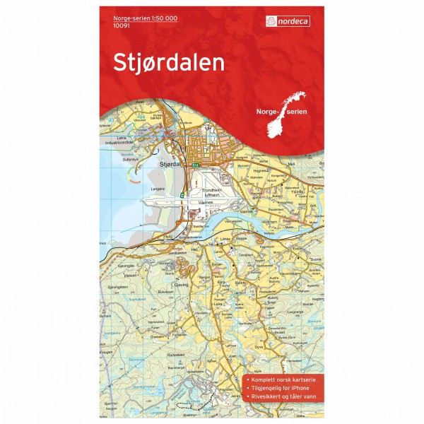 Nordeca - Wander-Outdoorkarte: Stjørdalen 1/50 - Hiking map